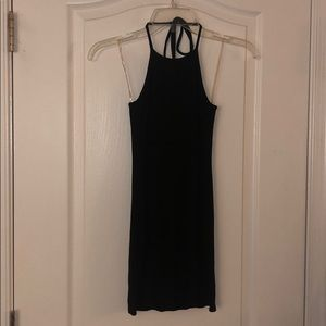 LBD Halter Top Black Dress
